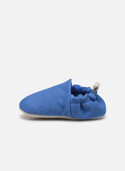 Chaussons Poco Nido Plain Delft Blue Mini Shoe Bleu vue face