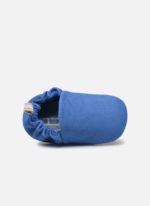 Chaussons Poco Nido Plain Delft Blue Mini Shoe Bleu vue gauche