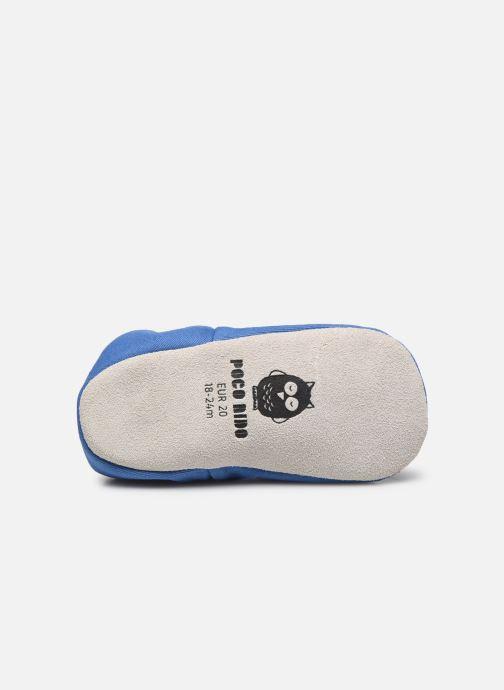 Chaussons Poco Nido Plain Delft Blue Mini Shoe Bleu vue haut
