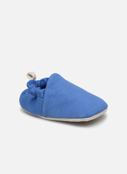 Chaussons Poco Nido Plain Delft Blue Mini Shoe Bleu vue détail/paire