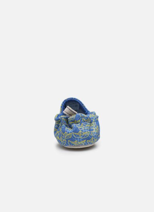 Chaussons Poco Nido Origami Boats Mini Shoe Bleu vue droite