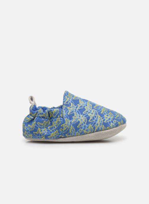 Chaussons Poco Nido Origami Boats Mini Shoe Bleu vue derrière