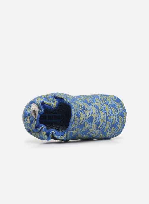 Chaussons Poco Nido Origami Boats Mini Shoe Bleu vue gauche