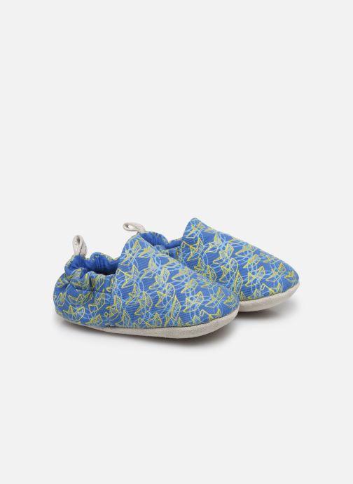 Chaussons Poco Nido Origami Boats Mini Shoe Bleu vue détail/paire
