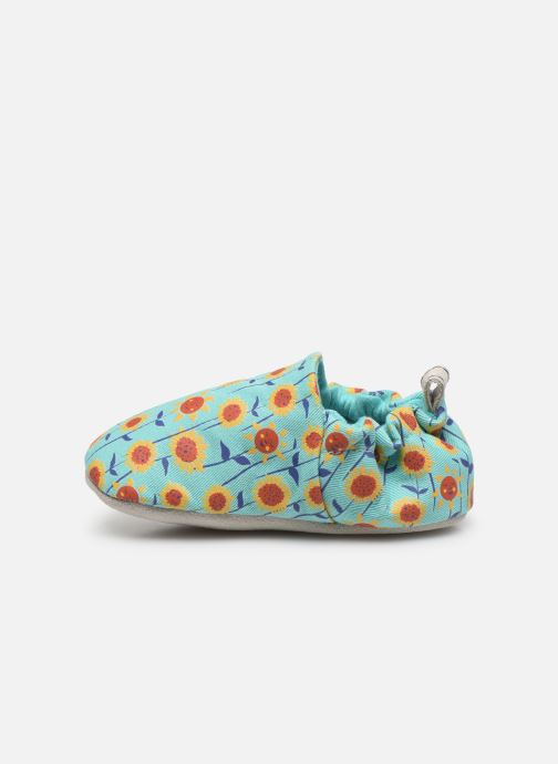 Chaussons Poco Nido Sunflowers Turquoise Mini Shoe Bleu vue face