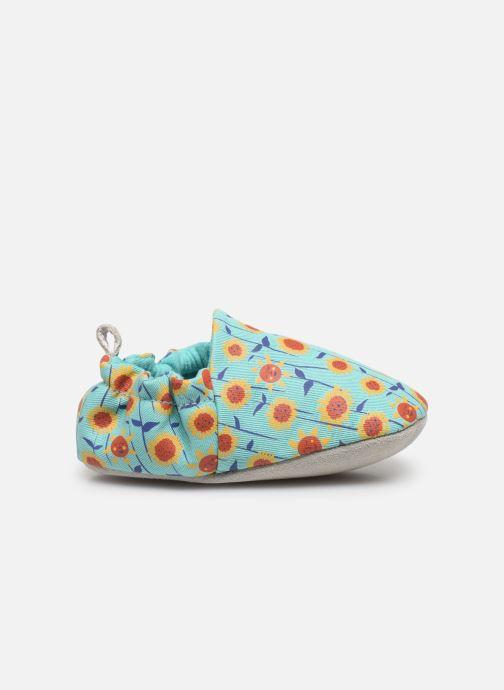 Pantuflas Poco Nido Sunflowers Turquoise Mini Shoe Azul vistra trasera