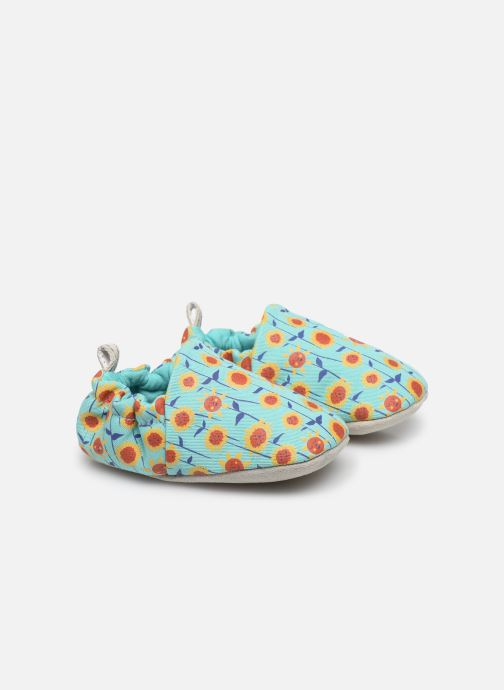 Pantuflas Poco Nido Sunflowers Turquoise Mini Shoe Azul vista de detalle / par