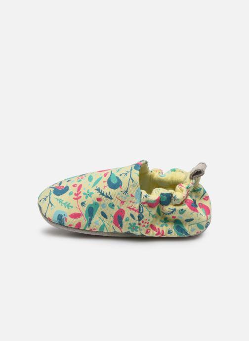 Chaussons Poco Nido Chalk Birds Yellow Mini Shoe Jaune vue face