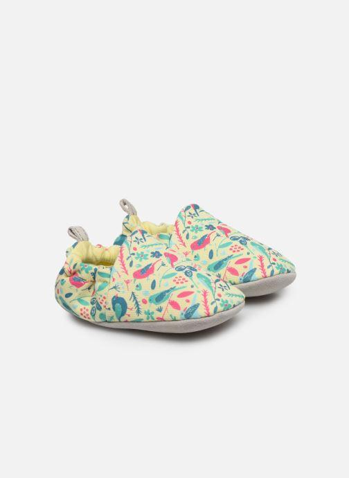 Chaussons Poco Nido Chalk Birds Yellow Mini Shoe Jaune vue détail/paire