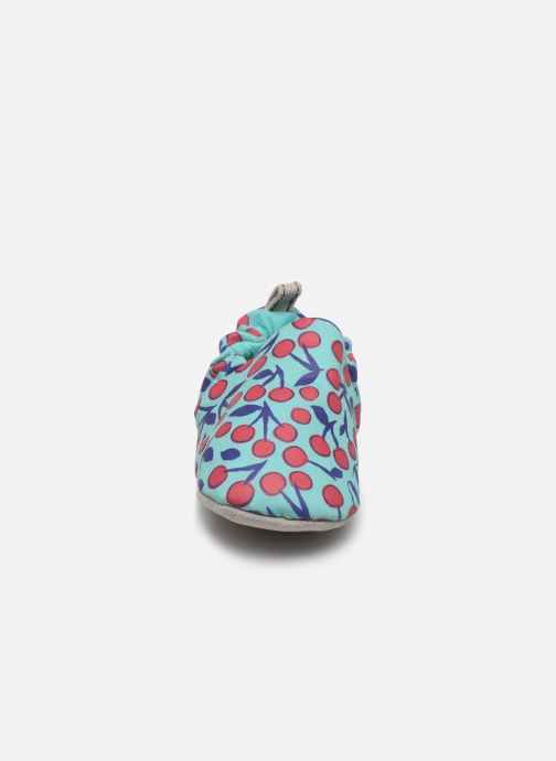 Chaussons Poco Nido Cherries Turquoise Mini Shoe Bleu vue portées chaussures