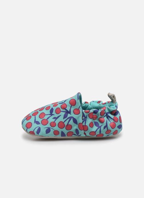 Chaussons Poco Nido Cherries Turquoise Mini Shoe Bleu vue face