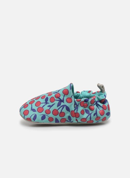 Pantuflas Poco Nido Cherries Turquoise Mini Shoe Azul vista de frente
