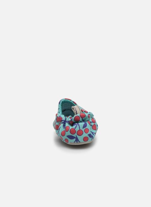 Chaussons Poco Nido Cherries Turquoise Mini Shoe Bleu vue droite