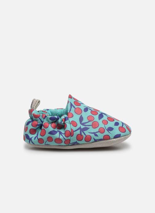 Pantuflas Poco Nido Cherries Turquoise Mini Shoe Azul vistra trasera