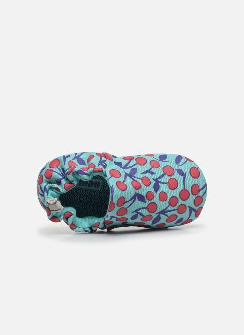 Chaussons Poco Nido Cherries Turquoise Mini Shoe Bleu vue gauche