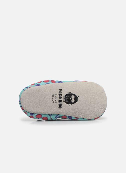 Chaussons Poco Nido Cherries Turquoise Mini Shoe Bleu vue haut