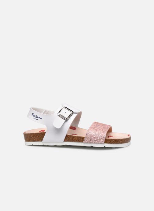 Sandales et nu-pieds Pepe jeans Bio Buckle Blanc vue derrière