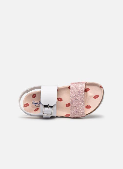 Sandales et nu-pieds Pepe jeans Bio Buckle Blanc vue gauche