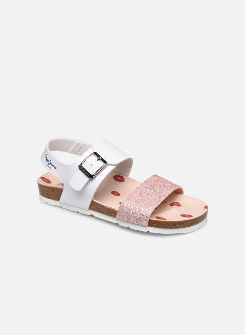 Sandales et nu-pieds Pepe jeans Bio Buckle Blanc vue détail/paire