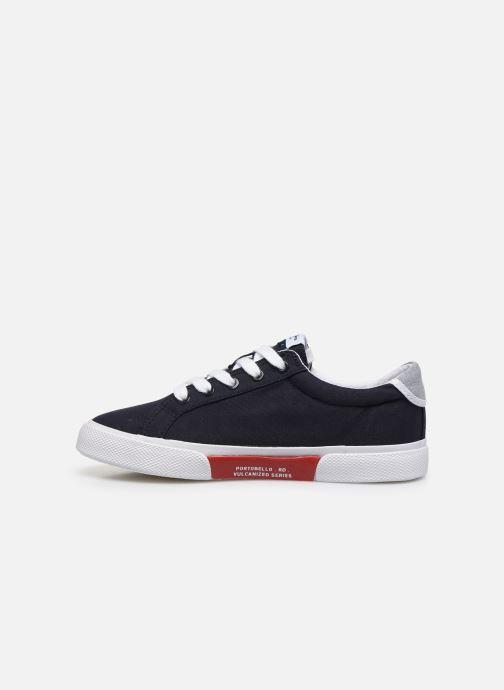 Sneaker Pepe jeans Kenton Basic Boy blau ansicht von vorne