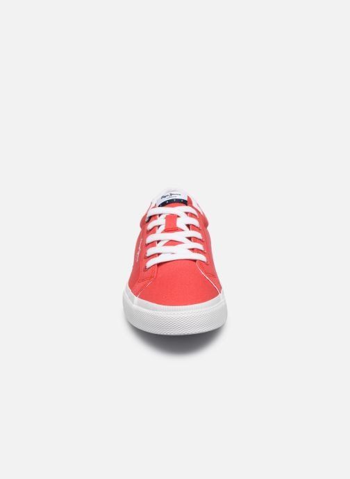 Sneakers Pepe jeans Kenton Basic Boy Rosso modello indossato