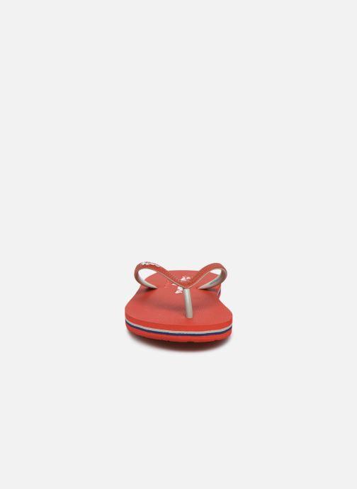 Infradito Pepe jeans Beach Basic Boy Rosso modello indossato