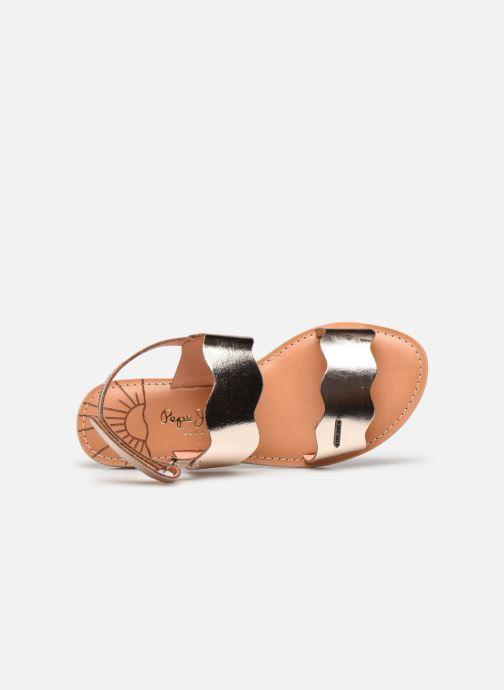 Sandales et nu-pieds Pepe jeans Mandy Waves Or et bronze vue gauche