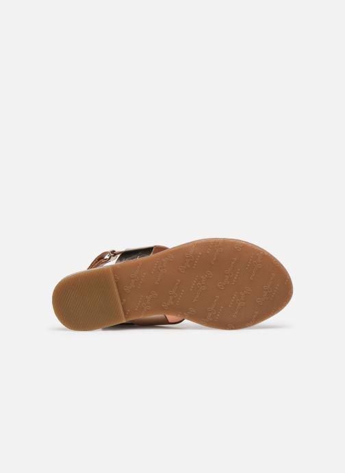 Sandales et nu-pieds Pepe jeans Mandy Waves Or et bronze vue haut