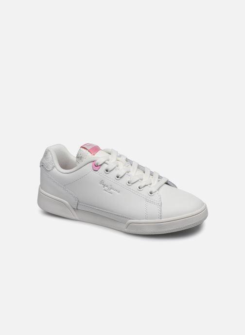 Baskets Pepe jeans Lambert Girl Blanc vue détail/paire