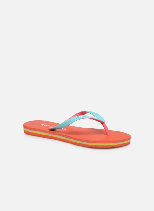 Tongs Pepe jeans Beach Basic Girl Rose vue détail/paire