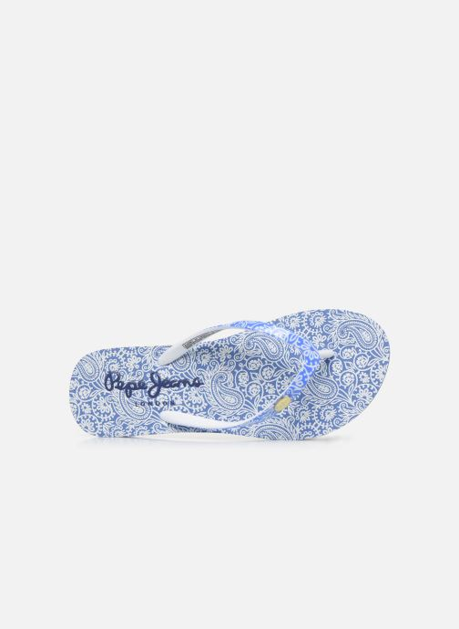 Tongs Pepe jeans Beach All Over Bleu vue gauche