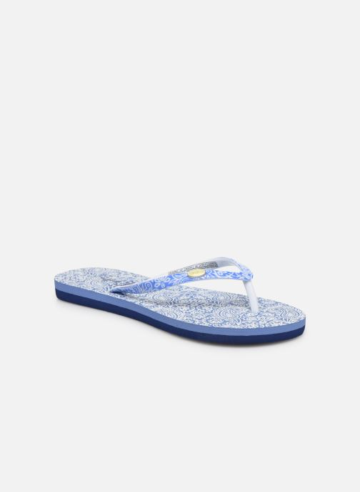 Tongs Pepe jeans Beach All Over Bleu vue détail/paire