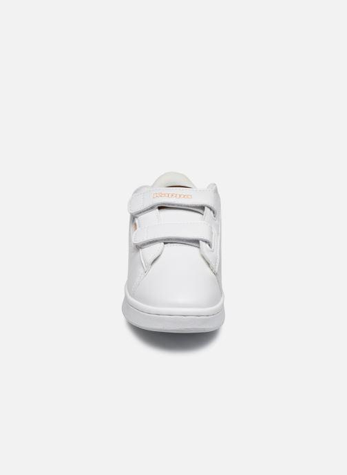 Baskets Kappa Tchouri Velcro Blanc vue portées chaussures