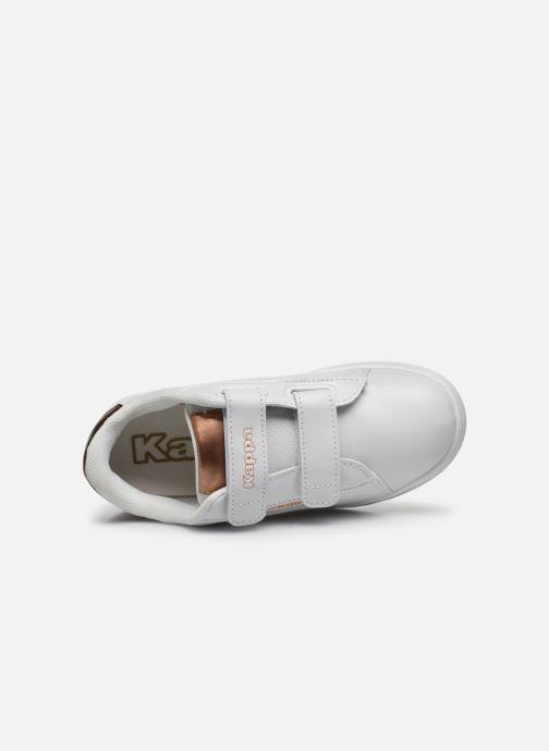 Baskets Kappa Tchouri Velcro Blanc vue gauche