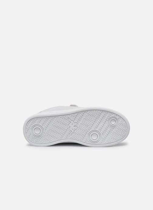Baskets Kappa Tchouri Velcro Blanc vue haut