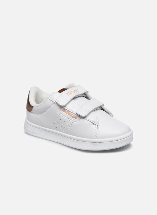 Baskets Kappa Tchouri Velcro Blanc vue détail/paire