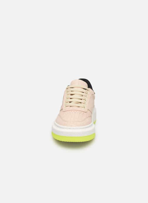 Baskets PS Paul Smith Hackney Beige vue portées chaussures