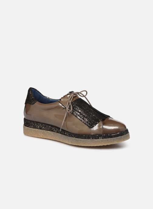 Lace-up shoes Humat Elsa Brown detailed view/ Pair view