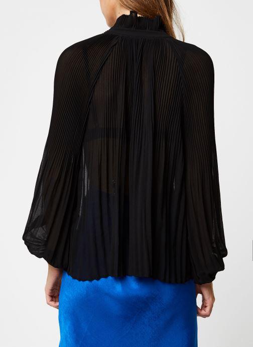 Vêtements School Rag Chemise Caina Noir vue portées chaussures