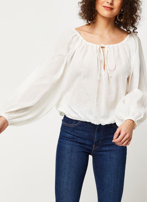 Vêtements School Rag Chemise Celestina Blanc vue détail/paire