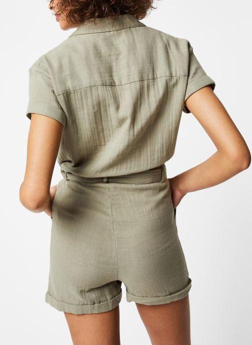 Vêtements School Rag Combinaison Cerise Vert vue portées chaussures