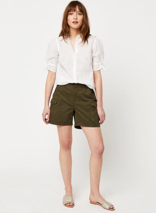 Vêtements School Rag Chemise Charlie Blanc vue bas / vue portée sac