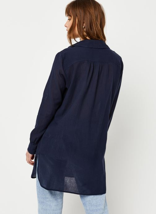 Vêtements School Rag Chemise Chima Bleu vue portées chaussures