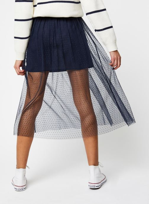 Vêtements School Rag Jupe Jasmine Dots Bleu vue portées chaussures