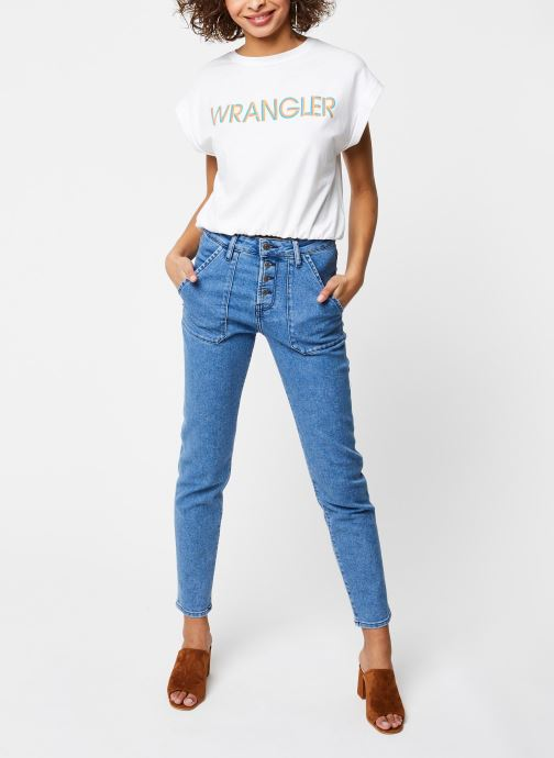 Vêtements School Rag Pantalon Lea Bleu vue bas / vue portée sac