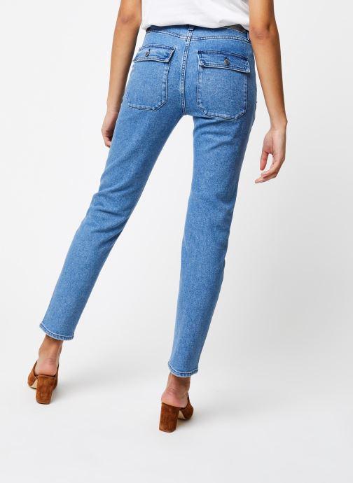 Vêtements School Rag Pantalon Lea Bleu vue portées chaussures