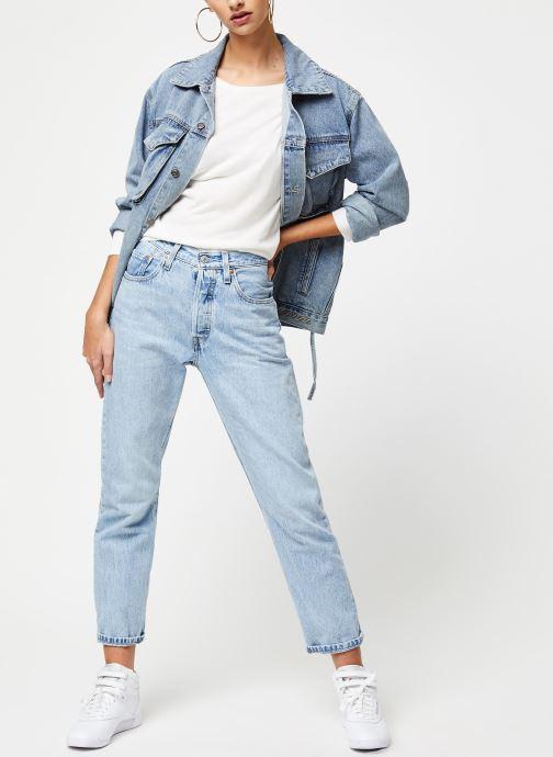 Vêtements School Rag Pull Panama Blanc vue bas / vue portée sac