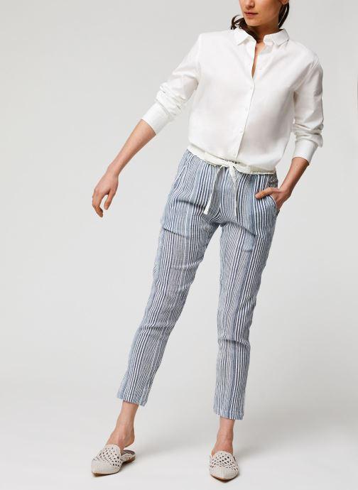 Vêtements School Rag Pantalon Princesa Stripe Bleu vue bas / vue portée sac