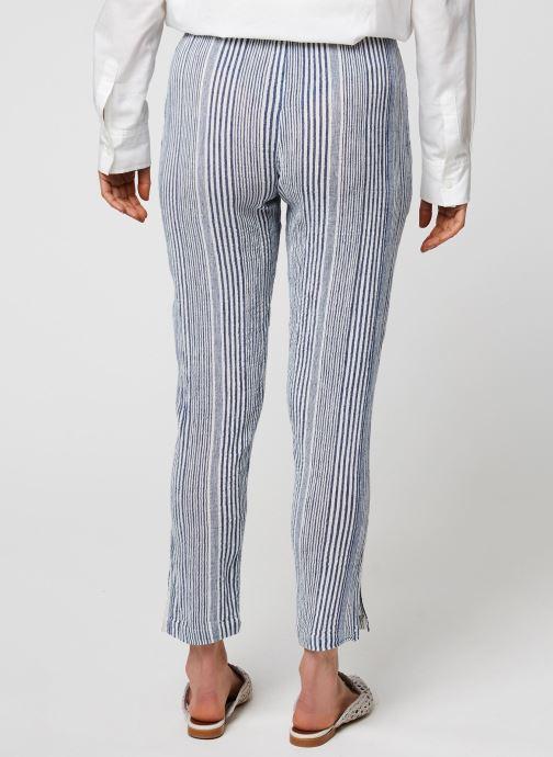 Vêtements School Rag Pantalon Princesa Stripe Bleu vue portées chaussures
