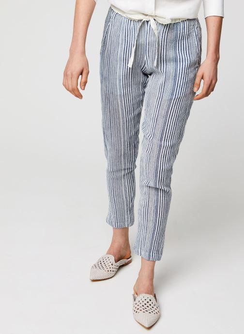 Vêtements School Rag Pantalon Princesa Stripe Bleu vue détail/paire